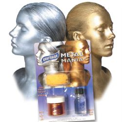 METAL MANIA -  BRONZE - MAQUILLAGE PEAU ET CHEVEUX - 1/2 OZ./14 GM