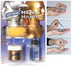 METAL MANIA -  OR - MAQUILLAGE PEAU ET CHEVEUX - 1/2 OZ/14 G