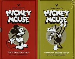 MICKEY MOUSE -  DISNEY MICKEY MOUSE BOX SET HC VOL 01 & 02 01/02