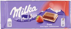 MILKA -  CHOCOLAT À LA FRAISE