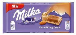 MILKA -  CHOCOLAT CRÈME CROUSTILLANTE AUX AMANDES