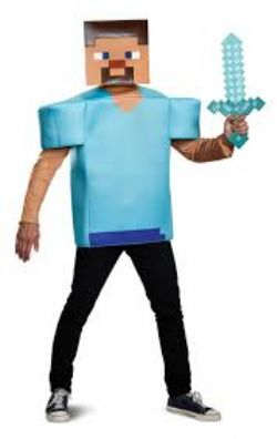 MINECRAFT -  COSTUME DE STEVE (ADULTE - TAILLE UNIQUE)