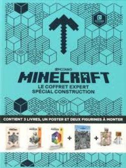 MINECRAFT -  LE COFFRET EXPERT SPÉCIAL CONSTRUCTION - AVEC 3 LIVRES, 1 POSTER ET 2 FIGURINES À MONTER