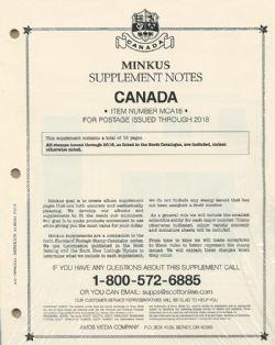 MINKUS CANADA -  SUPPLÉMENT 2018 - OFFICIEL