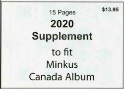 MINKUS CANADA -  SUPPLÉMENT 2020 - NON OFFICIEL (SANS POCHETTES)