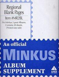 MINKUS -  PAGES BLANCHES POUR ALBUM 2 POTEAUX (PQ DE 25)