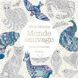 MONDE SAUVAGE (CARNET DE COLORIAGE)