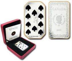 MONNAIES DE CARTE -  DIX DE PIQUE -  PIÈCES DU CANADA 2009 03
