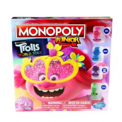 MONOPOLY JUNIOR -  TROLLS TOUR DU MONDE (MULTILINGUE)