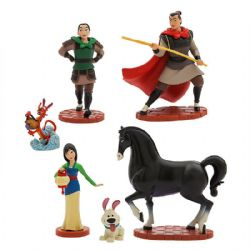 MULAN -  ENSEMBLE DE 6 FIGURINES