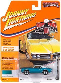 MUSCLE CARS U.S.A -  1968 PONTIAC FIREBIRD - TURQUOISE -  JOHNNY LIGHTNING 5