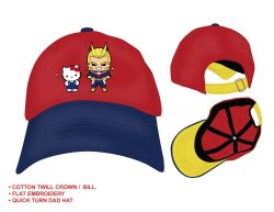 MY HERO ACADEMIA -  CASQUETTE HELLO KITTY ET ALL MIGHT