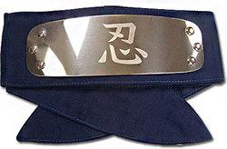 NARUTO -  BANDEAU MÉTALLIQUE DE L'ALLIANCE SHINOBI (SHINOBI RENGOGUN) - BLEU -  NARUTO SHIPPUDEN