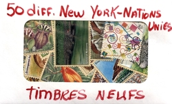 NATIONS UNIES -  50 DIFFÉRENTS TIMBRES - NATIONS UNIES NEUFS