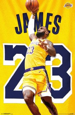 NBA -  AFFICHE DE LEBRON JAMES - LOS ANGELES LAKERS (56 CM X 86.5 CM)