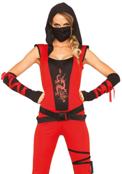 NINJA -  COSTUME DE NINJA ASSASSIN - ROUGE ET NOIR