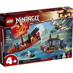NINJAGO -  LE VOL FINAL DU QG DES NINJAS (147 PIÈCES) -  LEGACY 71749
