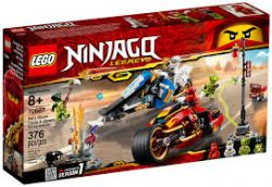 NINJAGO LEGACY -  LA MOTO DE KAI ET LA MOTONEIGE DE ZANE (376 PIÈCES) 70667