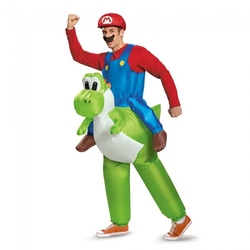 NINTENDO -  COSTUME DE LUXE DE MARIO CHEVAUCHANT YOSHI (ADULTE - TAILLE UNIQUE) -  SUPER MARIO