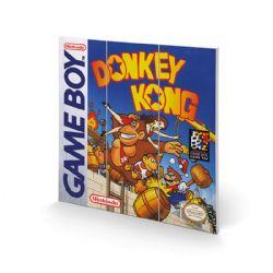 NINTENDO -  GAMEBOY - IMAGE SUR BOIS DONKEY KONG (30 CM X 30 CM)