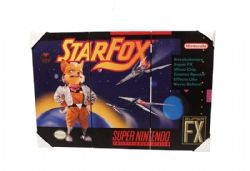 NINTENDO -  SUPER NINTENDO - IMAGE SUR BOIS STARFOX (29.5 CM X 20 CM)