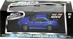 NISSAN -  BRIAN NISSAN SKYLINE GT-R 2002 1/43 - BLEU -  RAPIDE ET DANGEREUX