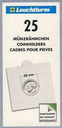NUMIS -  25 CARTONS 2X2 AUTOCOLLANTS POUR PIÈCES JUSQU'À 20 MM DE DIAMÈTRE