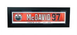 OILERS D'EDMONTON -  CADRE CONNOR MCDAVID #97 (14.5 CM X 56 CM)