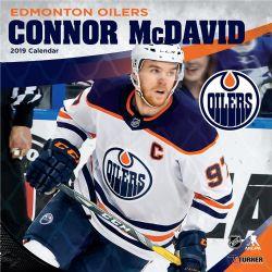 OILERS D'EDMONTON -  CALENDRIER 2019 CONNOR MCDAVID (16 MOIS)