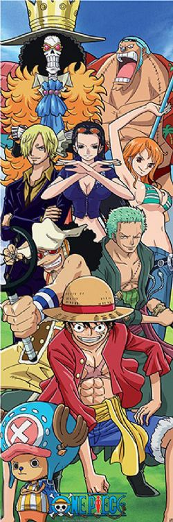 ONE PIECE -  DOOR AFFICHE  (158 X 53 CM)