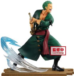ONE PIECE -  FIGURINE EN PCV DE ZORO (15CM) -  ONE PIECE LOG FILE SELECT FIGHT V1