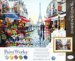 PAINT WORKS -  BOUTIQUE DE FLEUR À PARIS (50.8 CM X 35.5 CM)