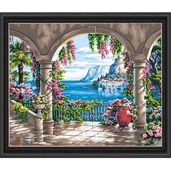 PAINT WORKS -  PATIO FLEURI (50.8 CM X 40.6 CM)