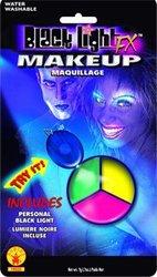 PALETTE DE MAQUILLAGE 3 COULEUR - BLEU, JAUNE, ROSE -  LUMIÈRE NOIRE