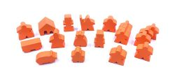 PAQUET DE 19 MEEPLE CARCASSONNE -  ORANGE
