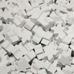 PAQUET DE 25 MEEPLE -  BLANC