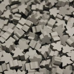 PAQUET DE 25 MEEPLE -  GRIS