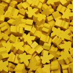 PAQUET DE 25 MEEPLE -  JAUNE