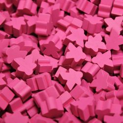 PAQUET DE 25 MEEPLE -  ROSE