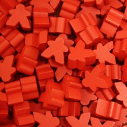 PAQUET DE 25 MEEPLE -  ROUGE