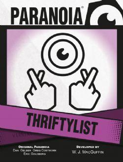 PARANOIA -  THRIFTYLIST CARD DECK (ANGLAIS)