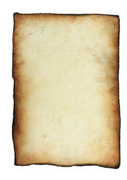 PARCHEMIN -  BRULÉ - GRAND (9.5 X 13.5)