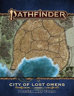 PATHFINDER 2E -  CITY OF LOST OMENS POSTER MAP FOLIO -  LOST OMENS
