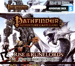 PATHFINDER ADVENTURE CARD GAME -  SINS OF THE SAVIORS - ADVENTURE DECK (ANGLAIS) -  RISE OF THE RUNELORDS