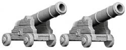 PATHFINDER MINIATURES -  CANNONS (2) -  DEEP CUTS