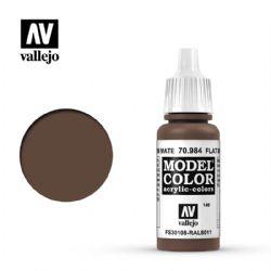 PEINTURE VALLEJO -  FLAT BROWN -  MODEL COLOR 70984