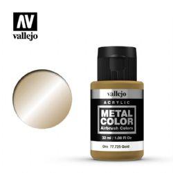 PEINTURE VALLEJO -  GOLD -  METAL COLOR 77725