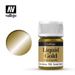PEINTURE VALLEJO -  GREEN GOLD -  LIQUID GOLD 70795