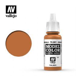 PEINTURE VALLEJO -  ORANGE BROWN -  MODEL COLOR 70981