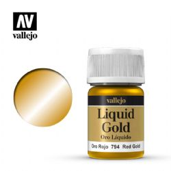 PEINTURE VALLEJO -  RED GOLD -  LIQUID GOLD 70794